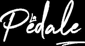 The La Pédale logo in white